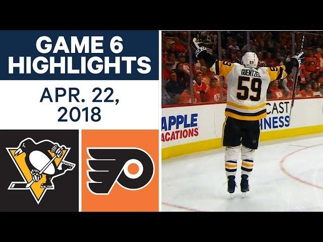 NHL Highlights  Penguins vs. Flyers, Game 6 - Apr. 22, 2018