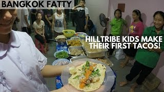 My Hilltribe (Hmong) Kids Make and Taste Their First Tacos!