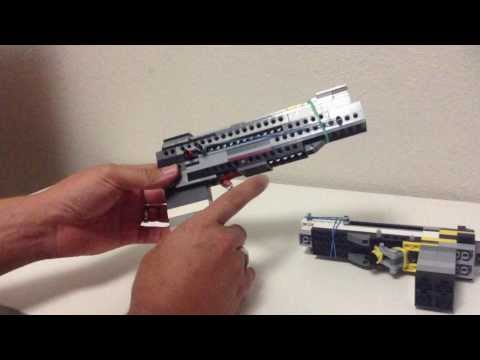 LEGO DESERT EAGLE HANDGUN PART II WORKS AND SHOOTS BRICKS