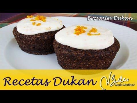 Brownies Dukan en microondas (Crucero) / Dukan Diet Oatbran Brownies
