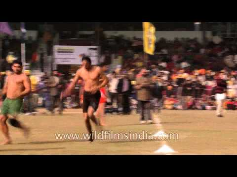 Kabaddi Players In Action At Olympic Rural Games video