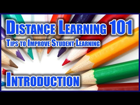 Distance Learning 101: #1 Introduction