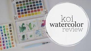 Watercolor Basics + Sakura Koi REVIEW