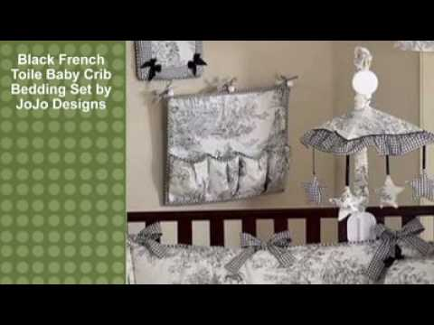 0 Black French Toile Baby Crib Bedding Set by JoJo Designs