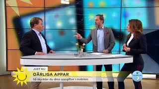 Dina mobilappar kan spionera på dig - så skyddar du dig - Nyhetsmorgon (TV4)
