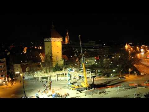 06.03.2012: Fußgängerbrücke am Tübinger Tor abgerissen