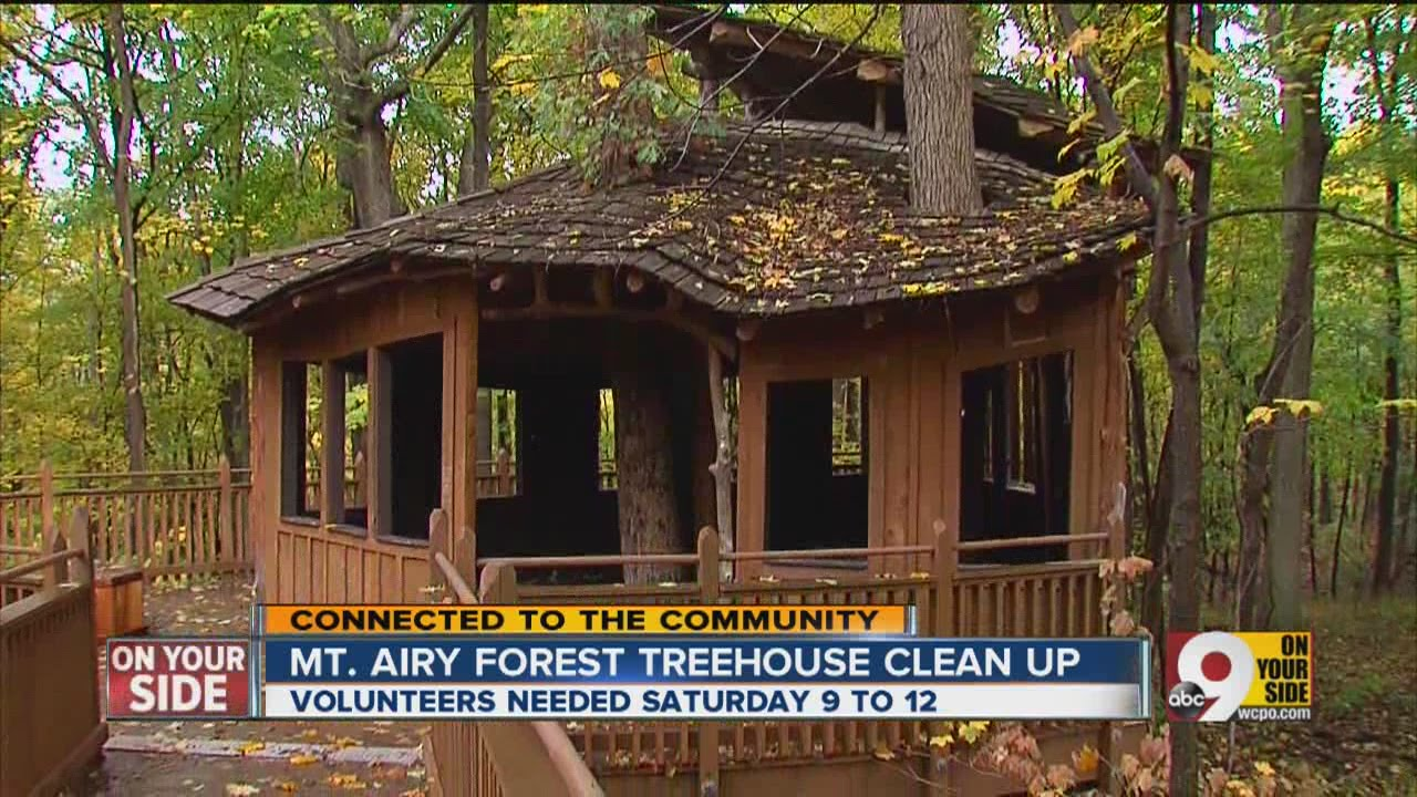 mt  airy forest treehouse clean up