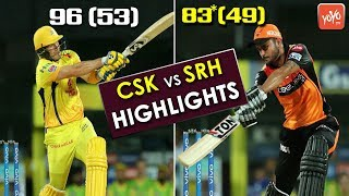 SRH Vs CSK Match Highlights | Manish Pandey Vs Shane Watson | David Warner | MS Dhoni