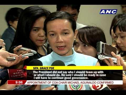 Poe discusses 2016 polls with Aquino again