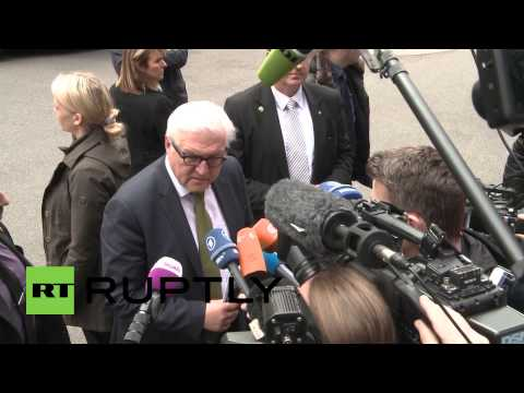 Switzerland: German FM Steinmeier arrives for Iran nuclear talks