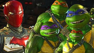 Injustice 2 - Ninja Turtles vs Red Hood All Intro Dialogue