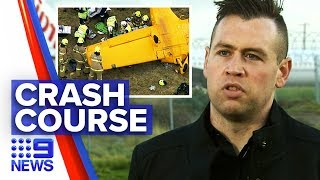 Student pilot recalls moment aircraft plunges to the ground | Nine News Australia