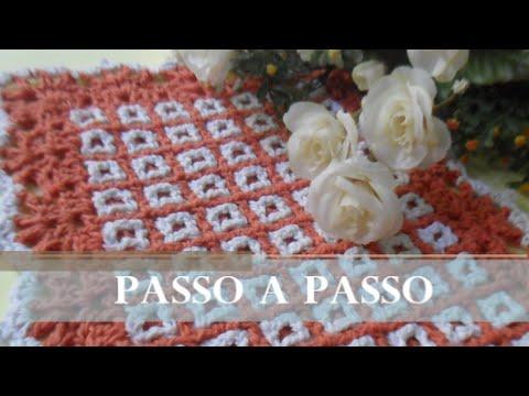 TAPETE - DUPLA FACE, PASSO A PASSO - CROCHÊ  (Artesanato)