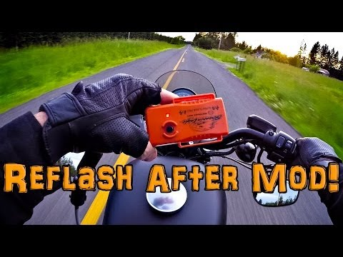 Super Tuner Pro ECM Flash! - After Air Box Mod! - Iron 883   TechTalk