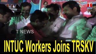 INTUC Workers Joins TRSKV in the Presence Of MP Srinivas Reddy - Badradri Kothagudem  live - netivaarthalu.com