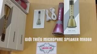 Review sản phẩm Micro kèm loa 3 trong 1 hát karaoke cực hay 068