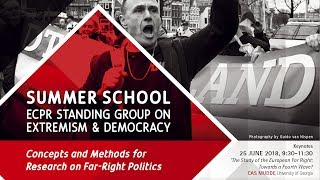Summer School - Concepts and Methods for Research on Far-Right Politics - 25 June 2018