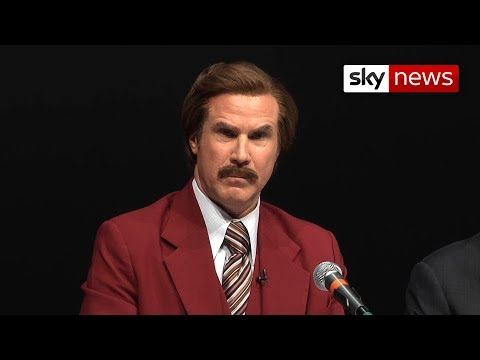 Ron Burgundy Teases British Reporter Over 'Fake' Accent