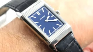 Jaeger-LeCoultre Grande Reverso Ultra-Thin Duoface Bleu Luxury Watch Review