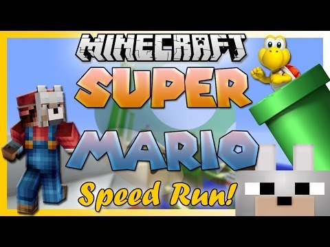Minecraft - Super Mario Speed Run RACE! W/ Friends