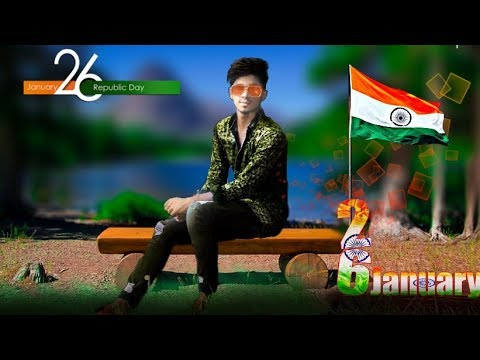 26th January Special Photo Edit || Picsart Photo Editing Tutorial || How To Make A photo editing ||