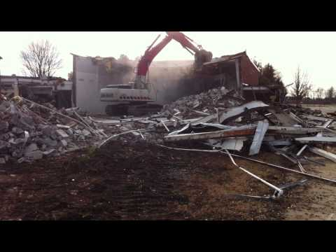 Travelers Rest High School Demolition - Part 2 (01-20-11)
