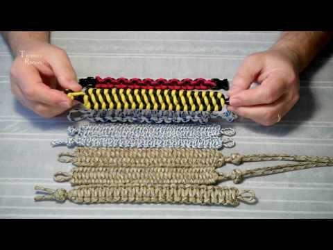Классификация браслетов из паракорда.