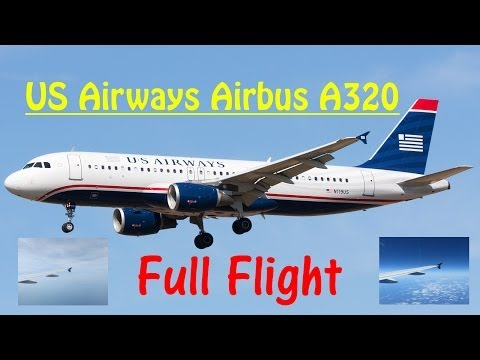 US Airways -- Airbus A320 FULL FLIGHT EXPERIENCE in HD (Flight 773)