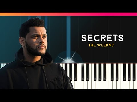 """The Weeknd - """"Secrets"""" Piano Tutorial - Chords - How To Play - Cover"""
