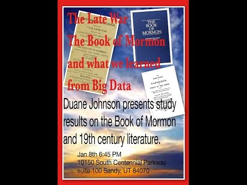 The Book of Mormon, The Late War, and What We Learned From Big Data