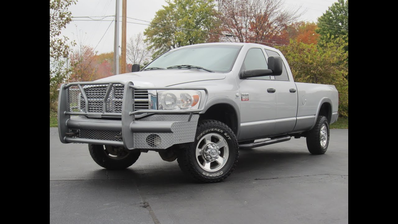 2008 dodge ram 2500 slt 4x4 cummins diesel longbed for sale youtube. Black Bedroom Furniture Sets. Home Design Ideas