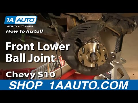 How To Install Replace Part 2 Front Lower Ball Joint Chevy GMC S-10 S15 1AAuto.c