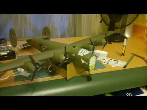 Building Paper Model of  B - 24 Liberator