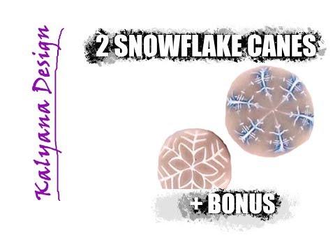181 Polymer clay tutorial - snowflake canes + bonus