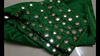latest mirror blouses designs