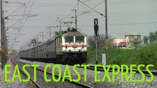 East Coast Express With LGD WAP 7! [Indian Railways]