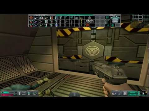 0 Lets play System Shock 2 Engineering deck and Cargo Bay Corridor of Death