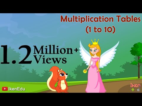 Sing multiplication song to learn multiplication tables 1 for 10 times table song