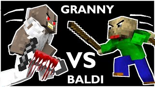 Monster School : BALDI'S BASICS VS GRANNY CHALLENGE ALL EPISODE 1 - Minecraft Animation
