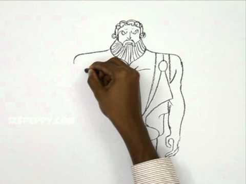 Видео как нарисовать Зевса карандашом поэтапно