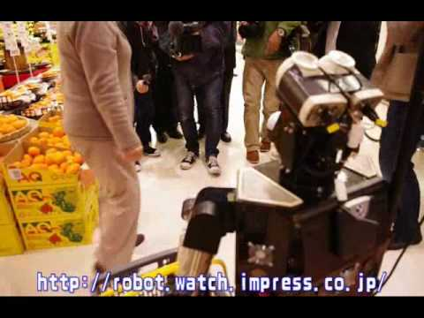 Robovie-II grocery shopping assistant