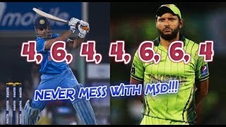 Afridi abusing Dhoni and Dhonis Epic Reply 4644664 NEVER MESS WITH MSD