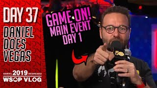 MAIN EVENT Day 1 Dodging Bullets Baby! - 2019 WSOP VLOG DAY 37