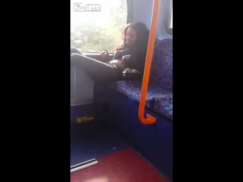 Woman Undresses On A Public Transit While Man Rants video