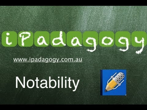 iPadagogy - App Review - Notability Tutorial Part 1