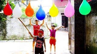 Kids Go Home By Car Games for Children | Kids Play Blindfold Break Water balloons ✿ Songs for Kids