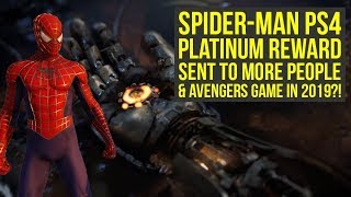 Spider Man PS4 - Platinum Reward Sent Out To More People & Big Superhero Games This Year?!