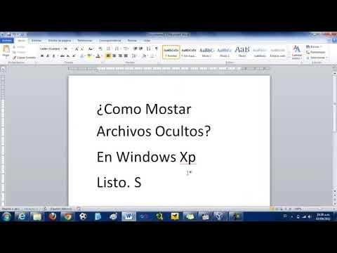 Como ver carpetas y archivos ocultos, Windows 7 y Windows XP