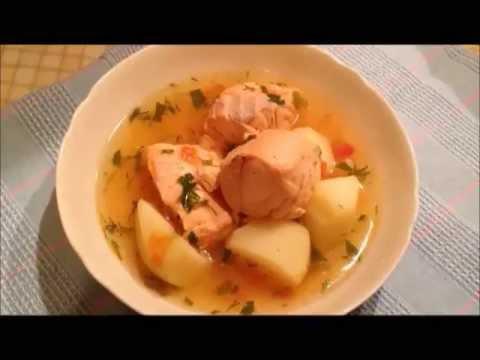 Рыбный суп с сёмгой.