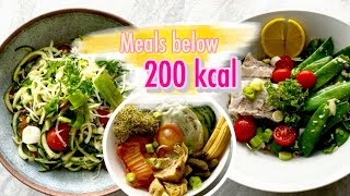 Meals below 200 calories for weight loss (keto and filling)